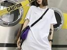 FINDSENSE H1夏季 新款 日本 嘻哈 下擺開叉 純色 時尚 情侶 寬鬆