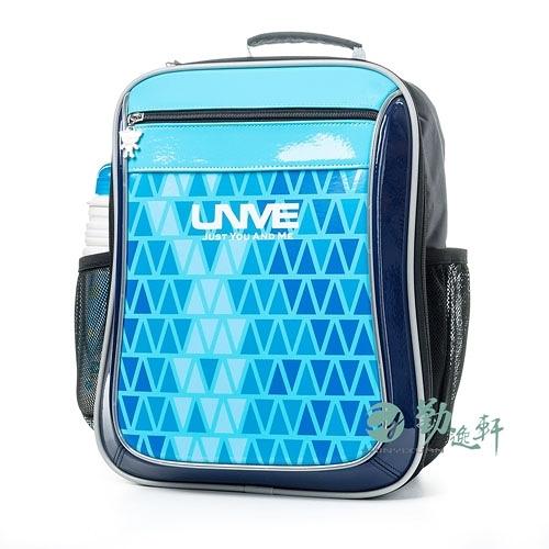 【南紡購物中心】【UnMe】低年級幾何圖騰後背書包/粉藍