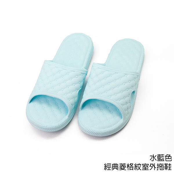 【333家居鞋館】凸面舒壓設計★經典菱格紋室外拖鞋-粉色