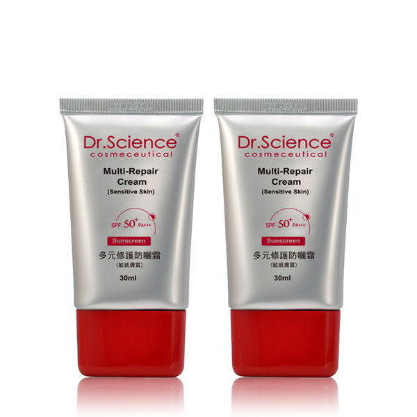 寶齡 Dr. Science賽因斯 多元修護防曬霜 SPF50 PA+++(敏感膚質用) (30ml) 二入組