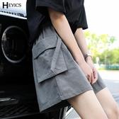 工裝短褲女日系中性夏季新款直筒五分褲寬鬆闊腿運動休閒褲潮ins 酷男精品館