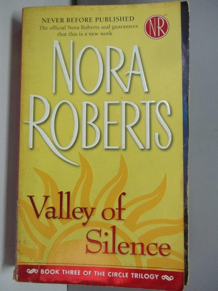 【書寶二手書T4/原文小說_ADT】Valley of Silence_Roberts, Nora