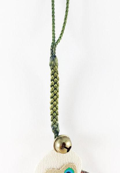 【震撼精品百貨】日本手機吊飾~和風布材質-貓頭鷹圖案-朱咖黑