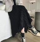 半身裙 中長款加厚百褶秋冬季氣質INS超火的毛線針織流蘇半身裙 【618特惠】