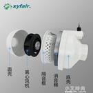 新怡風4寸管道風機100強力靜音廚房油煙排氣扇衛生間KTV抽風機 小艾時尚NMS