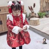 寶寶過年裝 女童拜年服漢服旗袍周歲禮服過年喜慶寶寶裝童新年唐裝中國風 交換禮物
