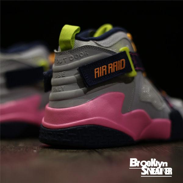 NIKE AIR RAID GS 灰粉 黏帶 魔鬼氈 綁帶 GD 籃球鞋 女  (布魯克林) 644882-101