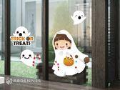 【ARDENNES】萬聖節慶佈置/玻璃貼/WT021搗蛋小幽靈