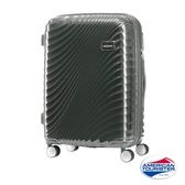 AT美國旅行者 24吋Erie流線硬殼飛機輪可擴充TSA行李箱(黑)