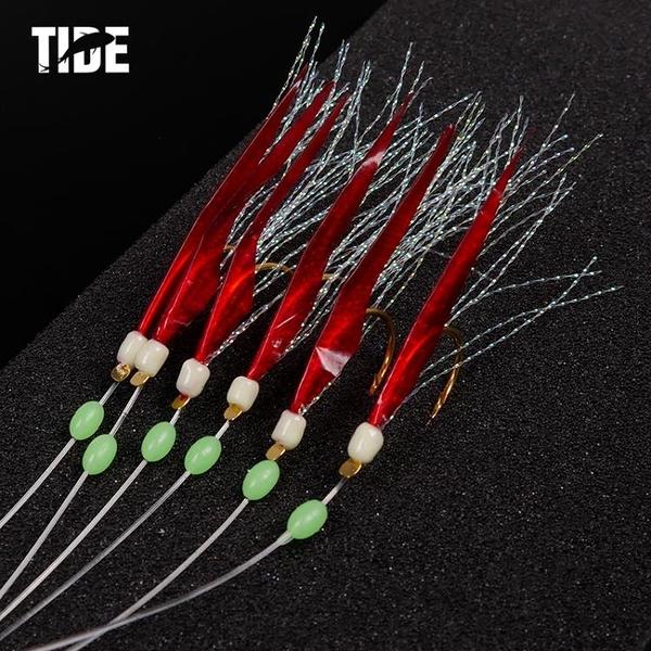 TIDE潮流魚皮串鉤帶魚鉤路亞串鉤10-20號魚皮鉤海釣帶魚釣組 美芭