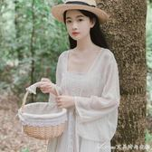 配吊帶裙子的超仙雪紡防曬衣開衫女夏季薄仙女小外套外搭披肩短款 艾美時尚衣櫥