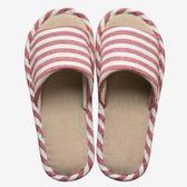 買一送一春秋亞麻拖鞋女夏季室內情侶居家居防滑地板涼拖鞋男夏天