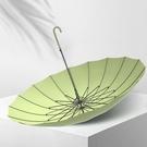 自動雨傘女晴雨兩用加大號加固加厚長柄黑膠森系s太陽傘遮陽防曬 NMS蘿莉新品