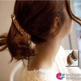 韓版飾品配件髮飾髮夾 艾爾莎 時尚簡單豹紋香蕉夾豎夾【TOY2219】
