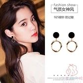925純銀耳釘耳夾耳環韓國氣質高級感輕奢耳飾女【少女顏究院】