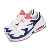Nike 復古慢跑鞋 Air Max2 Light 白 藍 網布鞋面 氣墊 休閒鞋 男鞋 運動鞋【PUMP306】 AO1741-104