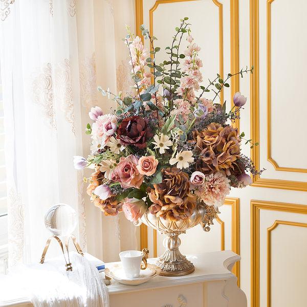 模擬花假花 套裝 花藝 客廳餐桌 裝飾花 花瓶花束 -bri02015