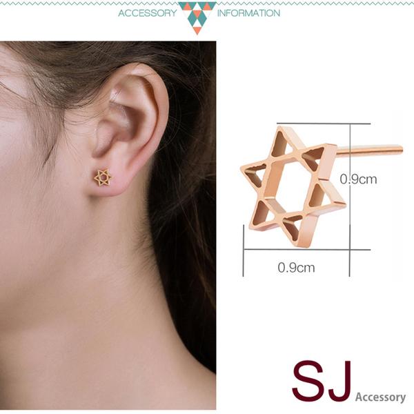 素簡手作玫瑰金夾式耳環 18k金耳夾  醫療鋼耳環 防過敏耳針 無耳洞耳環 現+預【RSE031】