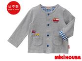 MIKI HOUSE  日本製 小熊車車 天竺棉防曬外套(灰)