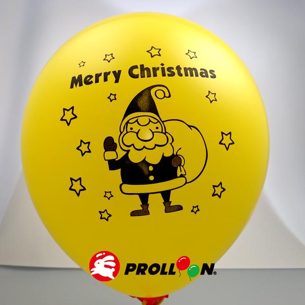 【大倫氣球】10吋圓形 聖誕節印刷氣球 小包裝 17入裝 Xmas Printing Balloons 台灣製造