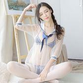 情趣內衣制服sm騷透視裝小胸三點式性感用品學生服夜店激情套裝女 全館免運