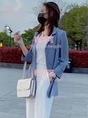 雪紡小西裝外套女薄款夏季韓版休閒高級感單西服上衣【桃可可服飾】