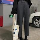 西裝褲 秋裝好康推薦新款西裝褲女學生正韓寬鬆直筒褲高腰九分褲女生帥氣褲子