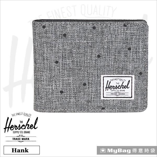 Herschel 皮夾 / 短夾 Hank-1160 灰色點點 經典內斂多卡短夾 MyBag得意時袋