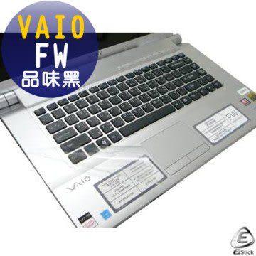 EZstick機身保護貼-VAIO FW 品味黑 專用(鍵盤週圍機身貼)
