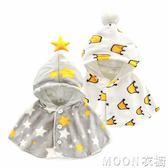 嬰兒斗篷披風春秋珊瑚絨小女孩披肩公主服新生兒衣服寶寶外套秋冬    MOON衣櫥