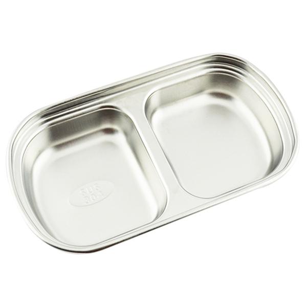 A-OK 韓式二格小菜盤 韓式小菜碟 不繡鋼小菜碟