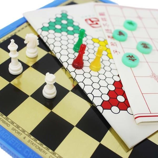 雷鳥 磁性三用棋 (大)LT-3016/一盒入{定330} (象棋.跳棋.西洋棋) 磁石三用棋 MIT製