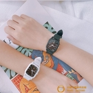 數字公式手表女IG風學生韓版簡約方形森系學院風小方表【小獅子】