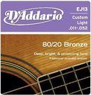 D'Addario EJ13青銅民謠吉他弦(11-52) 【DAddario/木吉他弦/EJ-13】