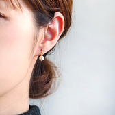 itam 日本製 法蘭奇棉珍珠耳環/耳夾 (NP122)