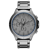 A│X Armani Exchange 時刻終戰三眼計時腕錶-灰