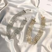 YAHOO618◮新春新品▶歐美金色性感隱形頸鏈頸帶韓國短款項鏈 韓趣優品☌