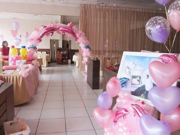 情意花坊網路花店~專業婚禮會場浪漫海豚造型氣球佈置5999元新北市皆可服務!