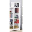 【森可家居】簡約白色耐磨五格櫃 8SB242-6 開放書櫃 收納 北歐風 MIT台灣製造