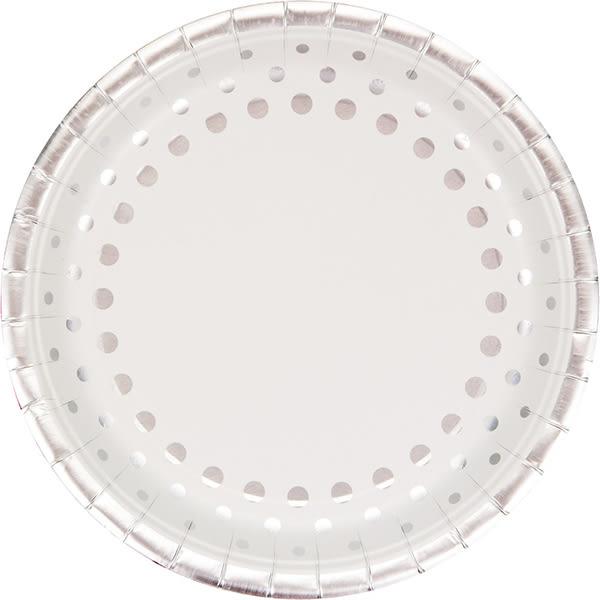 9吋圓盤8入-典雅銀