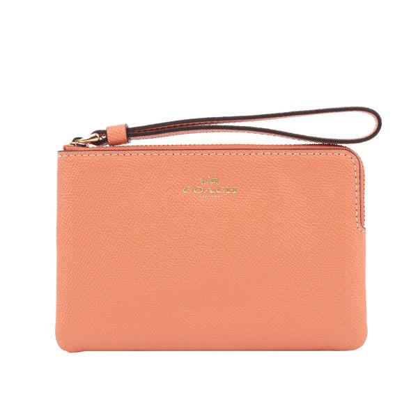 【COACH】L型皮革拉鍊手拿包(粉色) F58032 IMORO