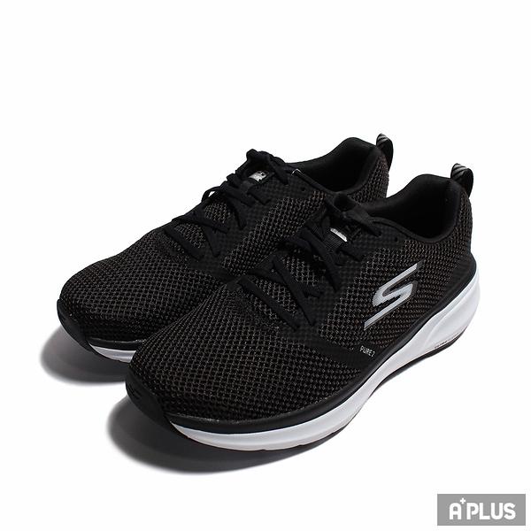 SKECHERS 女慢跑鞋 GO RUN PURE 2 黑白 網布 輕量 休閒-172012BKW