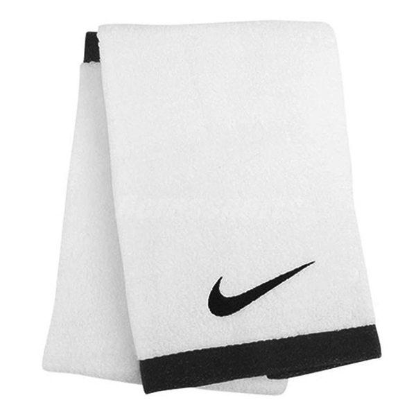 NIKE 運動毛巾 Fundamental Towel 白 黑 勾勾 純棉 吸汗 速乾 健身房 運動用【PUMP306】 AC2088-101