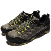 Merrell 戶外鞋 Moab FST 運動鞋 Gore-Tex 防水 越野 登山 黑 黃 休閒鞋 男鞋【PUMP306】 ML37601