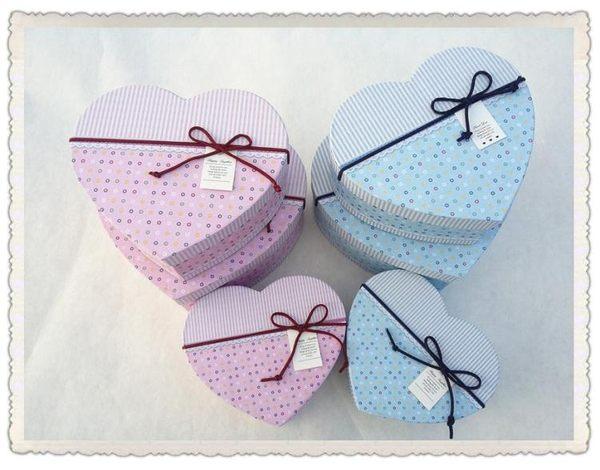精美特種紙心形禮品盒 生日禮物盒情人節情侶巧克力盒【新年交換禮物降價】
