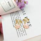 【NiNi Me】夾式耳環 甜美可愛水鑽櫻花珍珠夾式耳環 夾式耳環 E0092