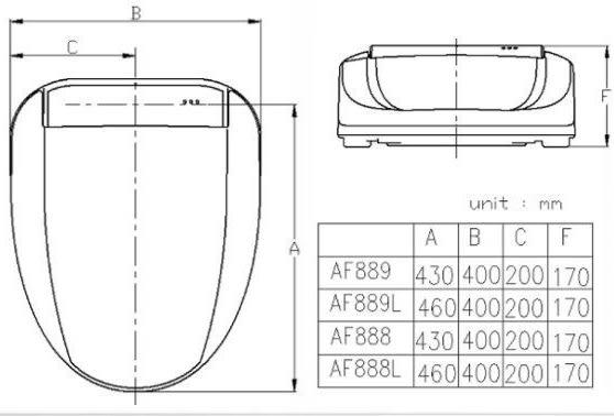 和成 HCG 智慧型免治沖洗馬桶座 AF888(L) 無線遙控/暖座/SPA按摩/智慧12種功能