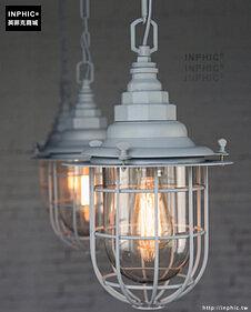 INPHIC- 工業風格復古吊燈美式創意咖啡館酒吧吧台鍋蓋鳥籠單頭吊燈-P款_S197C