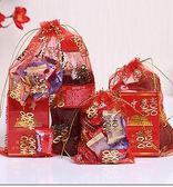 婚禮糖盒中式喜糖袋紗袋50個裝 包裝禮盒