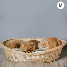 寵物床 編織竹籐寵物床 睡墊 賴床M 動物緣 MYZOO 《生活美學》